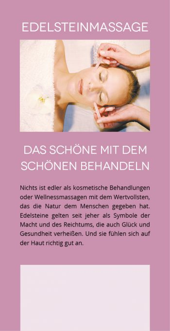 Flyer Edelstein-Massage