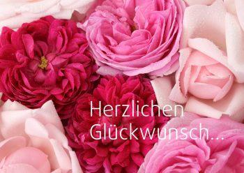 Geburtstagskarte Rote Rosen