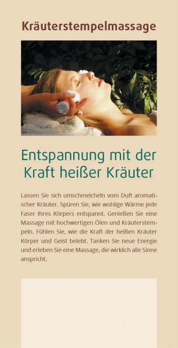 Flyer Kräuterstempel-Massage