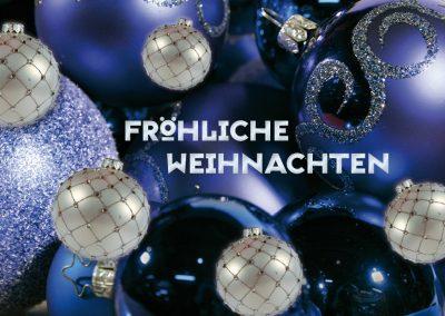 Weihnachtskarte Blue X-Mas