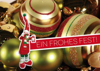 Weihnachtskarte Wichtel
