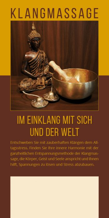 Flyer Klangmassage Buddha