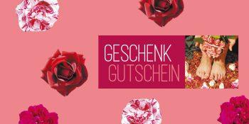 Geschenkgutschein Fußpflege Rosen