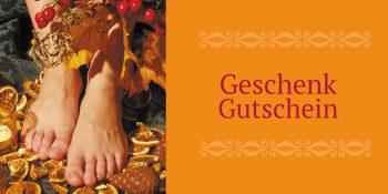 Geschenkgutscheinkarte Fußpflege orange