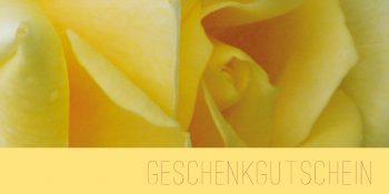 Geschenkgutscheinkarte Gelbe Rose