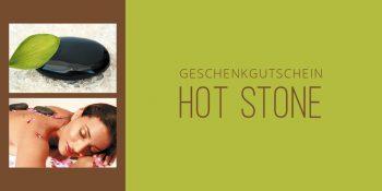 Geschenkgutscheinkarte Hot-Stone-Massage