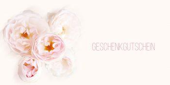Geschenkgutscheinkarte Weiße Rose