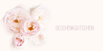 Geschenkgutschein Weiße Rose