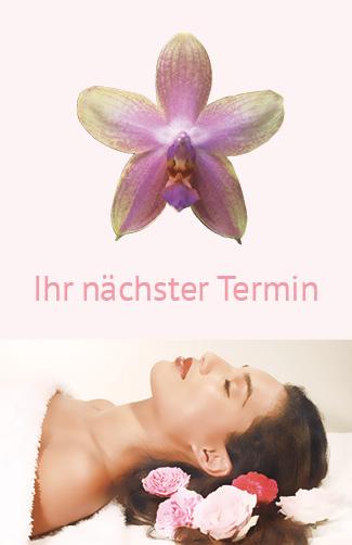 Terminkarte Kosmetik Orchidee