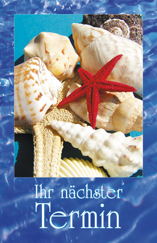 Terminkarte Muscheln