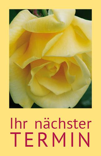 Terminkarte Gelbe Rose