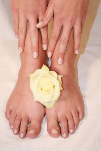 Füße gelbe Rose
