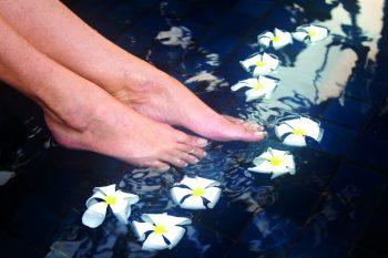 Fußbad Blüten