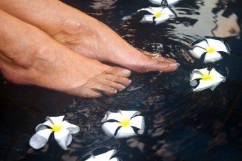 Fußbad Blüten 2
