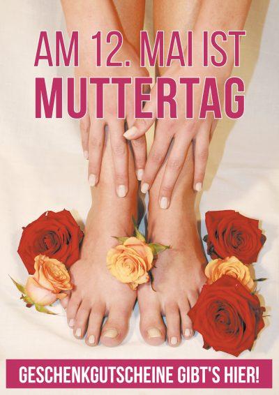 Plakat Muttertag Hände Füße 19