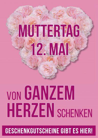 Plakat Muttertag Rosenherz 2019