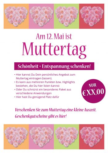 Plakat Muttertag Rosenherz Angebot 2019