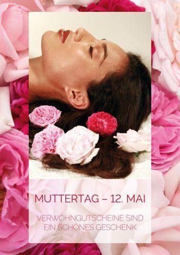 Plakat Muttertag Verwöhngutscheine