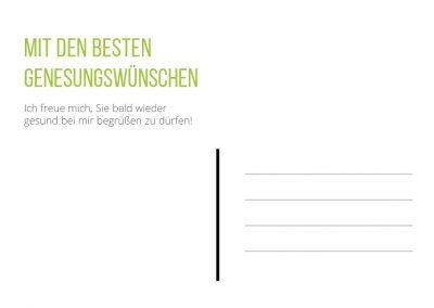 Genesungskarte grün Seite 2