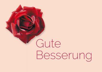 Genesungskarte Rose