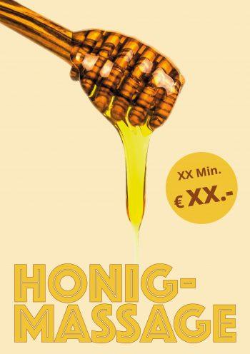 Plakat Honigmassage Tropen Angebot