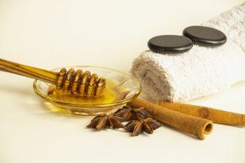 Honigmassage Stillleben Hotstones