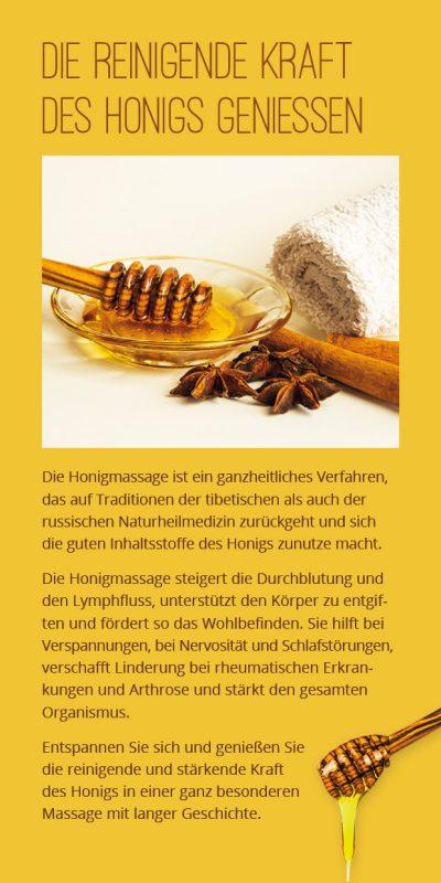Flyer Honigmassage Seite 2