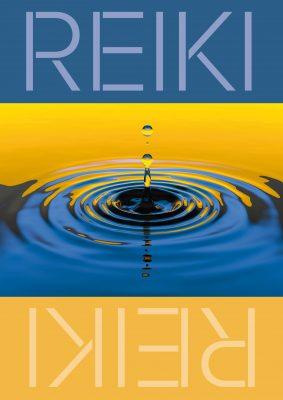 Plakat Reiki Wassertropfen