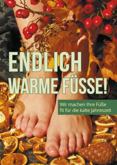 Plakat warme Füße