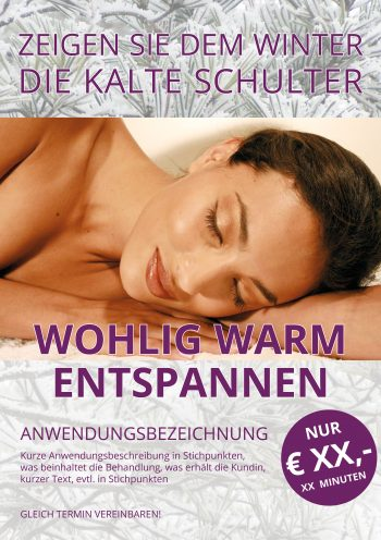 Plakat Winter-Wellness Preis
