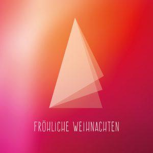 Dankeschön-Gutschein Weihnachten abstrakt
