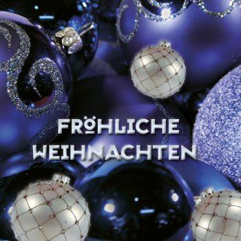 Dankeschön-Gutschein Weihnachten blau