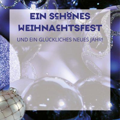 Dankeschön-Gutschein Weihnachten blau Seite 2