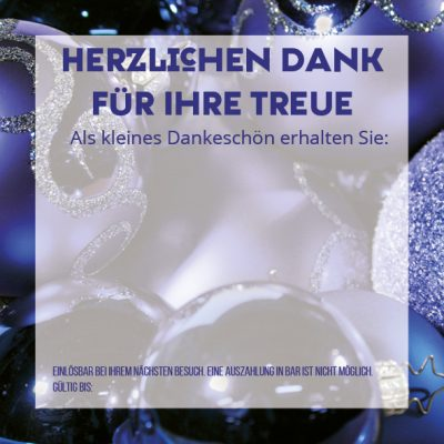 Dankeschön-Gutschein Weihnachten blau Seite 3
