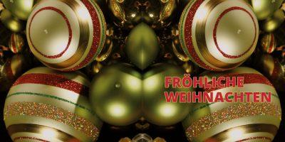 Dankeschön-Gutschein Weihnachten grün Bogen außen