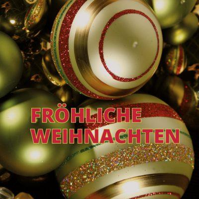 Dankeschön-Gutschein Weihnachten grün