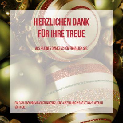 Dankeschön-Gutschein Weihnachten grün Seite 3