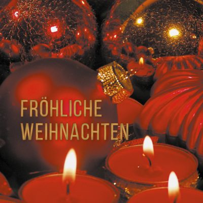 Dankeschön-Gutschein Weihnachten rot