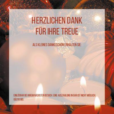 Dankeschön-Gutschein Weihnachten rot Seite 3