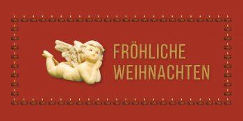 Geschenkgutschein-Karte Weihnachten rot