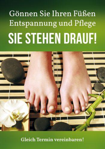 Plakat Fuß grün Damen