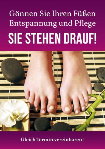 Plakat Fuß violett Damen