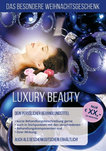 Plakat Luxury Beauty Angebot