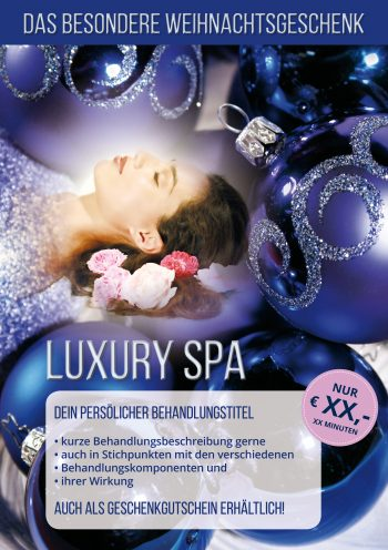 Plakat Luxury Spa Angebot