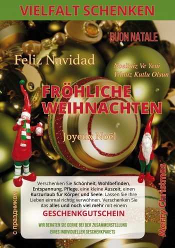 Plakat Vielfalt Weihnachten
