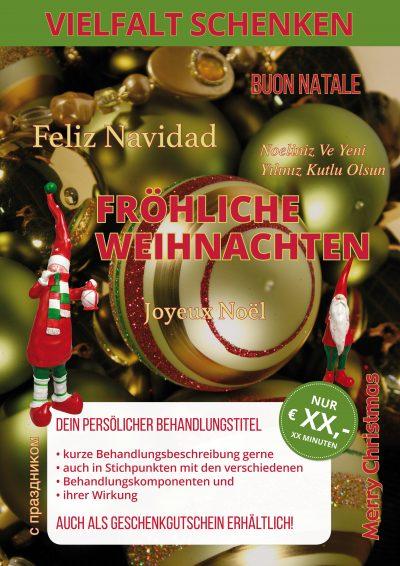 Plakat Vielfalt Weihnachten Angebot