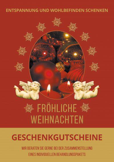 Plakat Weihnachten rot