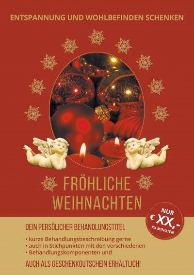 Plakat Weihnachten rot Angebot