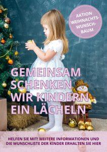 Plakat Weihnachtswunschbaum Kind