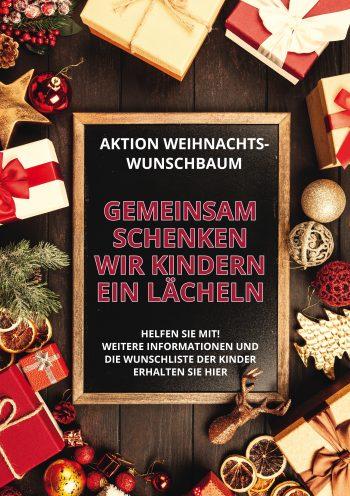 Plakat Weihnachtswunsch Tafel